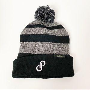 Poshmark Beanie Hat Winter Black Grey Pom Pom New